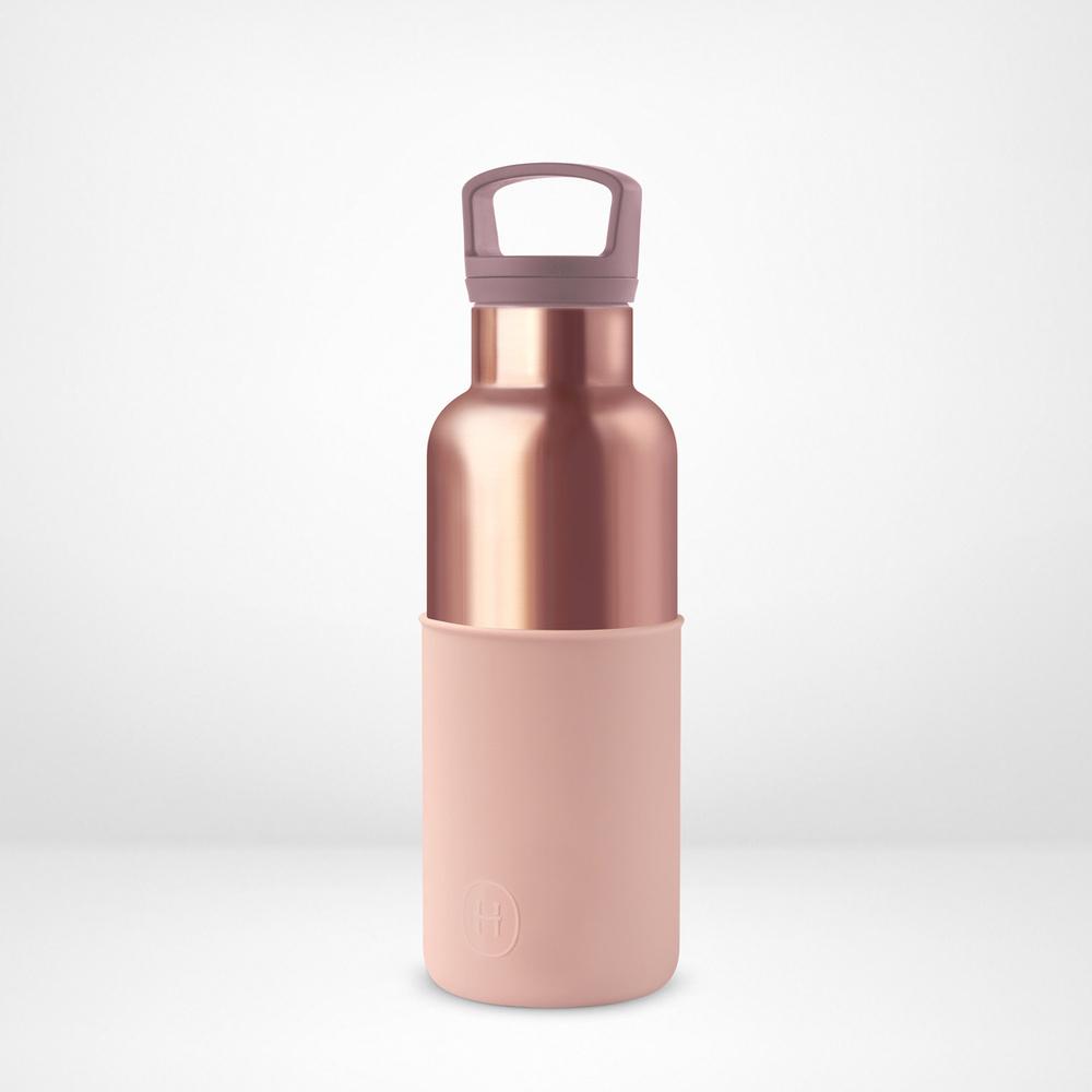 美國HYDY|CinCin Déco 絕美保溫瓶 480ml 蜜粉金瓶-拿鐵