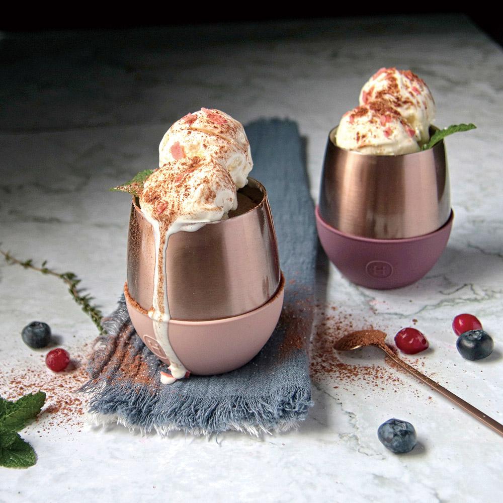 美國HYDY| Delicia Pink Gold Tumblers 優雅蛋型杯(2入組)