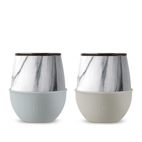 美國HYDY | Delicia 大理石蛋型杯 240ml【2入組】