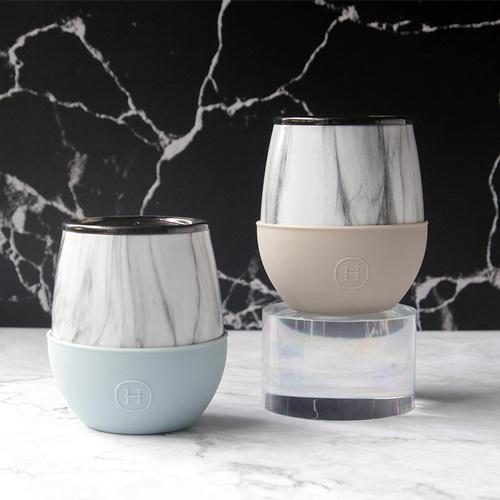 美國HYDY | Delicia 系列時尚大理石蛋型杯2入組