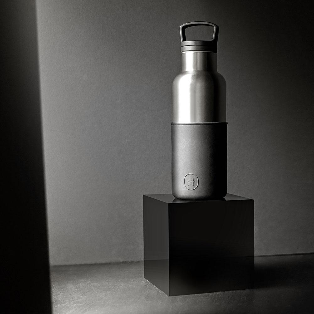美國HYDY|CinCin Déco 絕美保溫瓶 480ml 鈦灰瓶-油墨黑