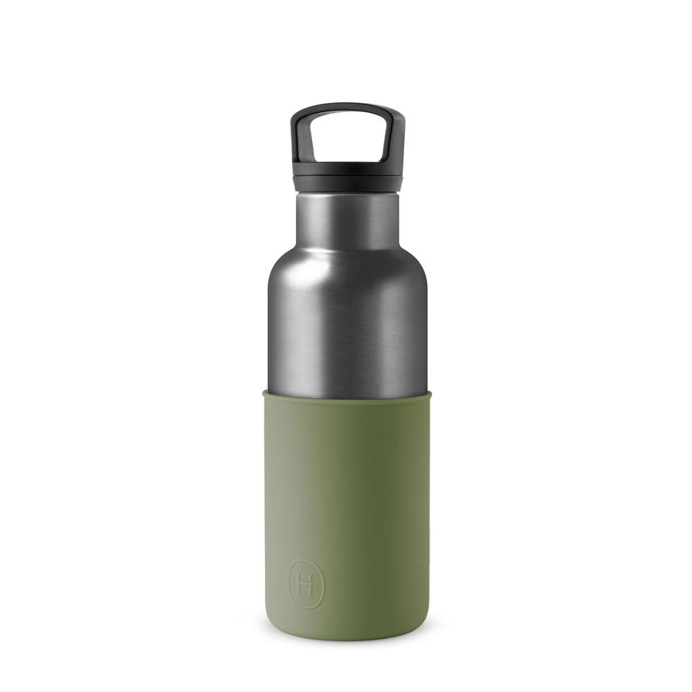 美國HYDY CinCin Déco 絕美保溫瓶 480ml 鈦灰瓶-軍綠