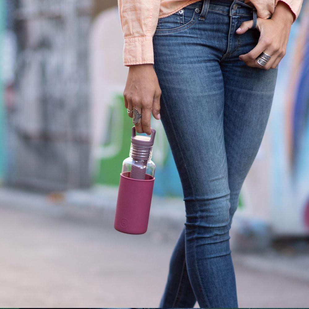 美國HYDY Estiva 系列 輕靚水瓶   透明-酒紅 590ml