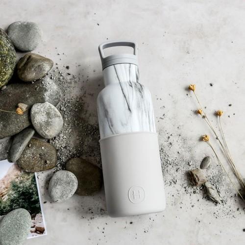 美國HYDY|CinCin Déco 絕美保溫瓶 480ml 大理石瓶-雲灰