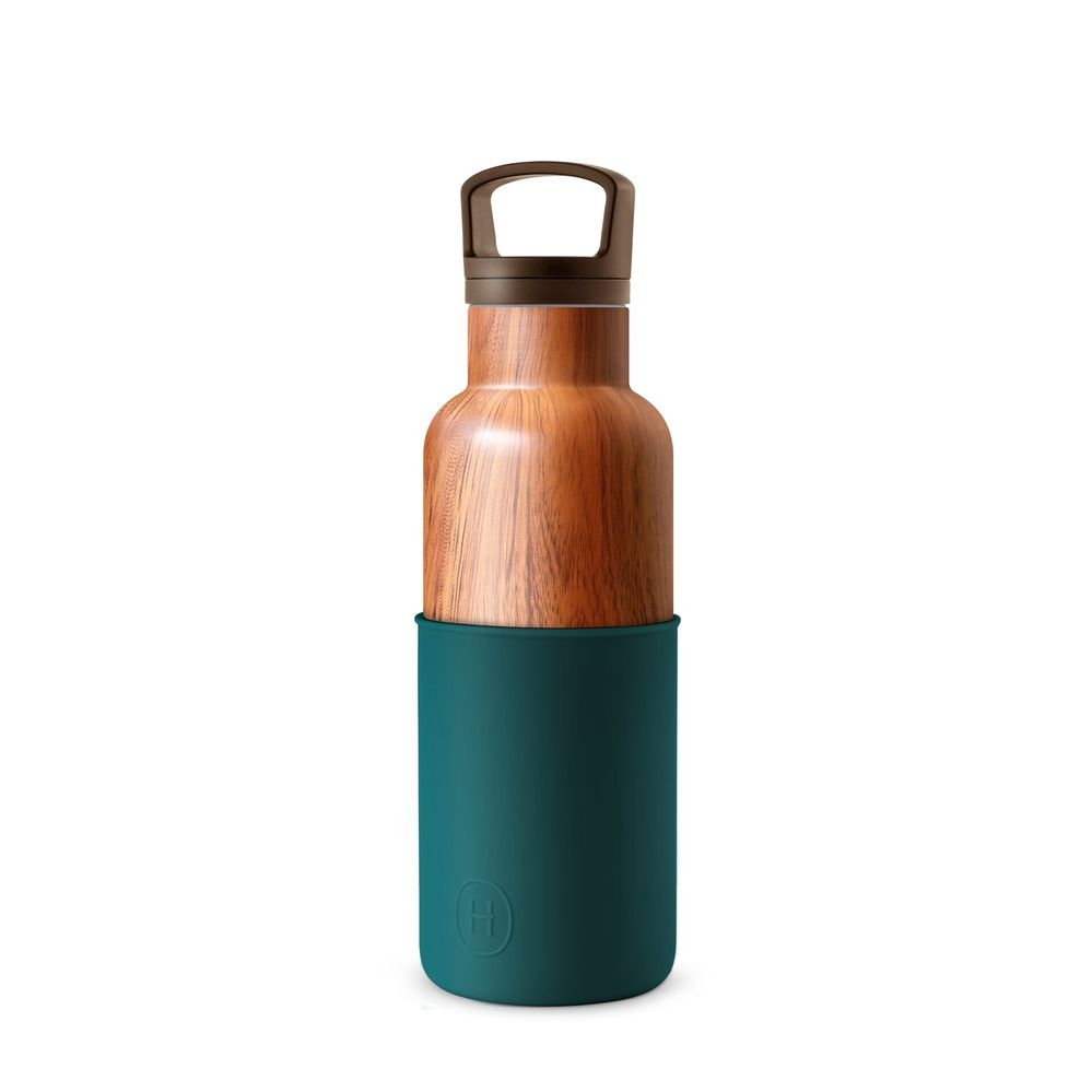 美國HYDY|CinCin Déco Collection  孔雀綠-木紋瓶 480 ml