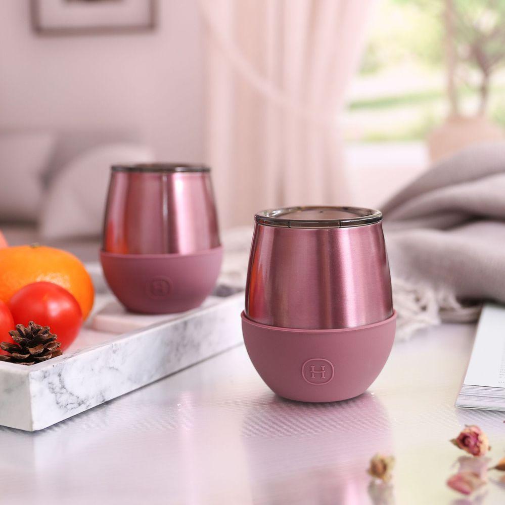 美國HYDY | Delicia 優雅蛋型杯 240ml 玫瑰金杯-乾燥玫瑰