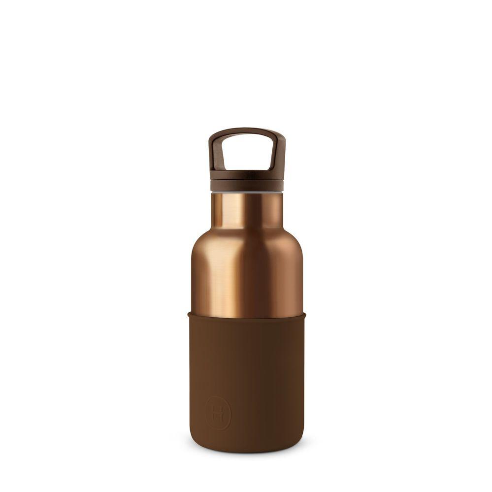 美國HYDY|CinCin Déco 絕美保溫瓶 360ml 古銅金瓶-摩卡