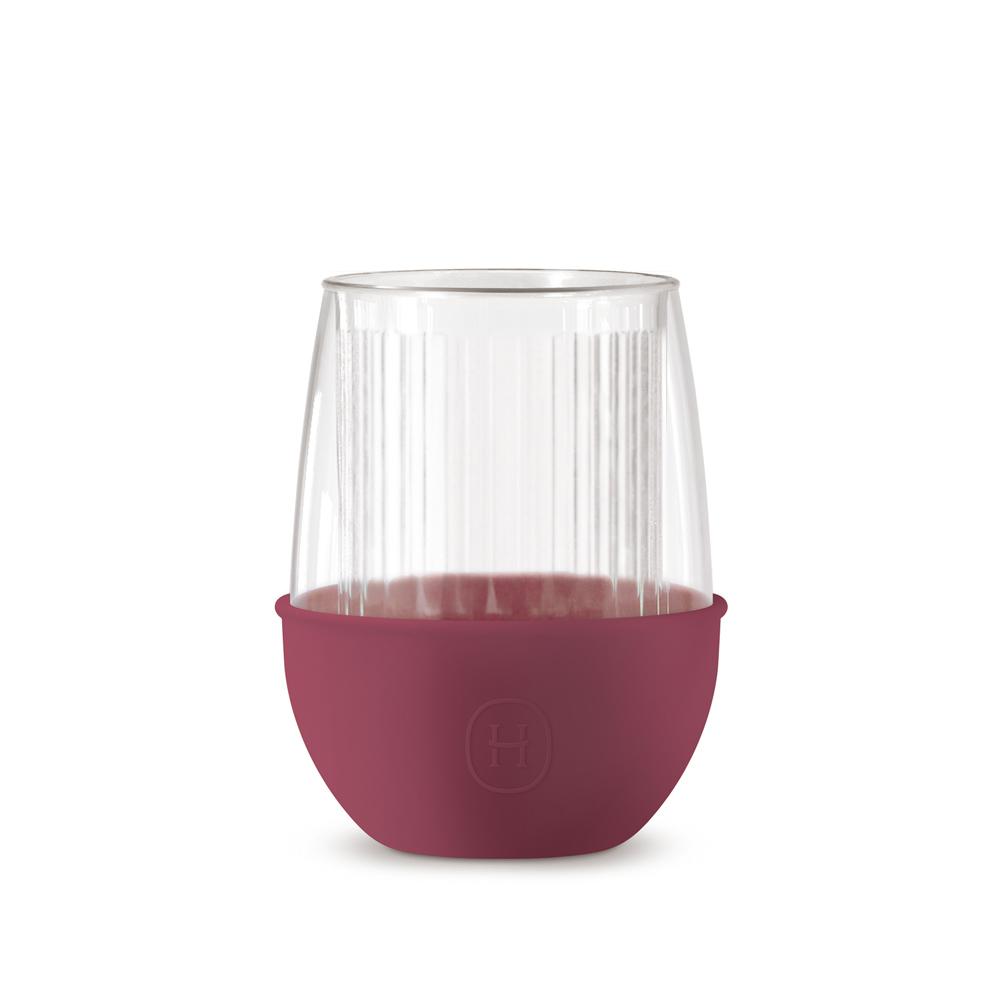 美國HYDY|Lucido 雙層玻璃蛋型杯 240ml 直條紋杯-桑格莉亞