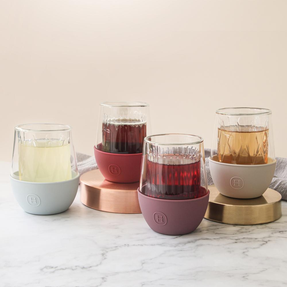 美國HYDY 質感生活 240ml 雙層玻璃蛋型杯4入組