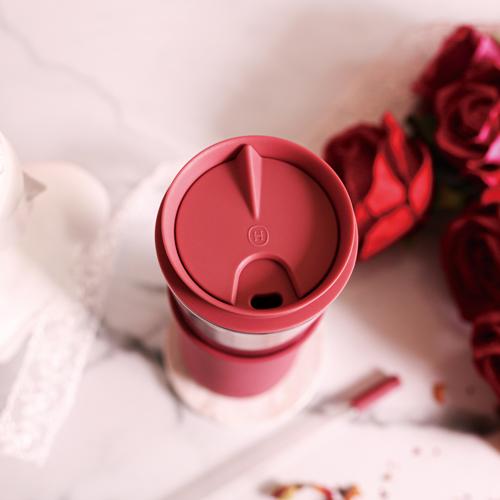 美國HYDY|兩用隨行保溫杯 玫瑰金-桑格利亞 450ml