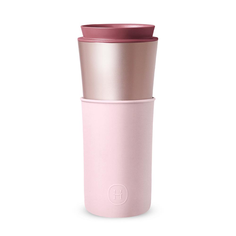 美國HYDY|Delicia 兩用隨行保溫杯 450ml 珠光粉-櫻花粉