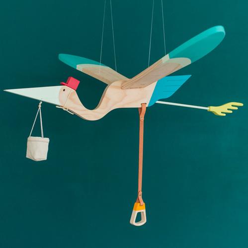 江口設計 Eguchi toys 木製飛鳥 - 送子鳥 Pelican