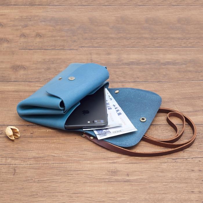 Be Two|土耳其藍雙釦側背包