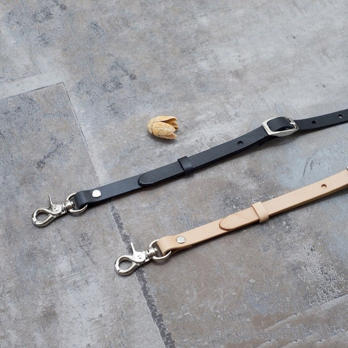 Be Two ∣ 窄版植鞣革手工背帶 可調整長度 真皮萬用型背帶