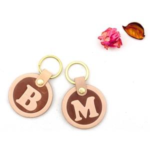 Be Two| 真皮字母鑰匙圈/義大利植韖革鑰匙圈