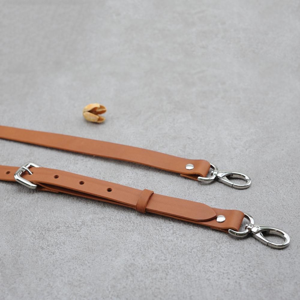 Be Two ∣ 寬版植鞣革手工背帶 / 可調整長度 / 真皮萬用型背帶