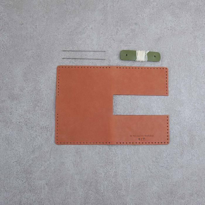 Be Two 雙邊真皮名片夾 材料包 含教學影片