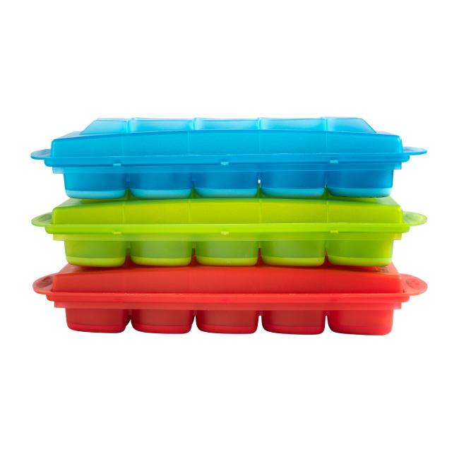 法國mastrad | 15格橢圓形按壓製冰盒(綠)