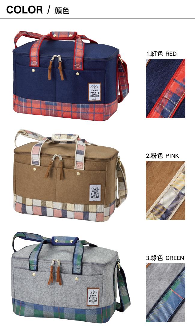 BRUNO格紋野餐袋
