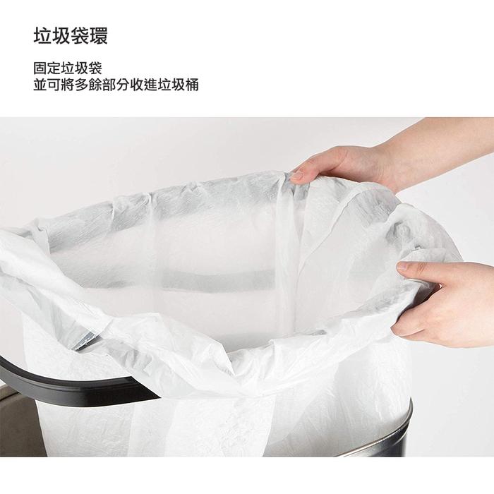 美國NINESTARS 時尚不銹鋼感應垃圾桶50L  (廚衛系列)尊爵黑