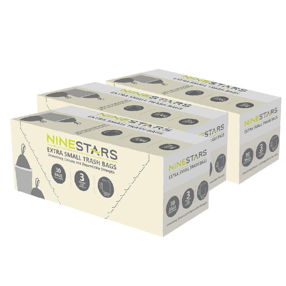 美國NINESTARS|專業收納垃圾袋12L-超值三入組