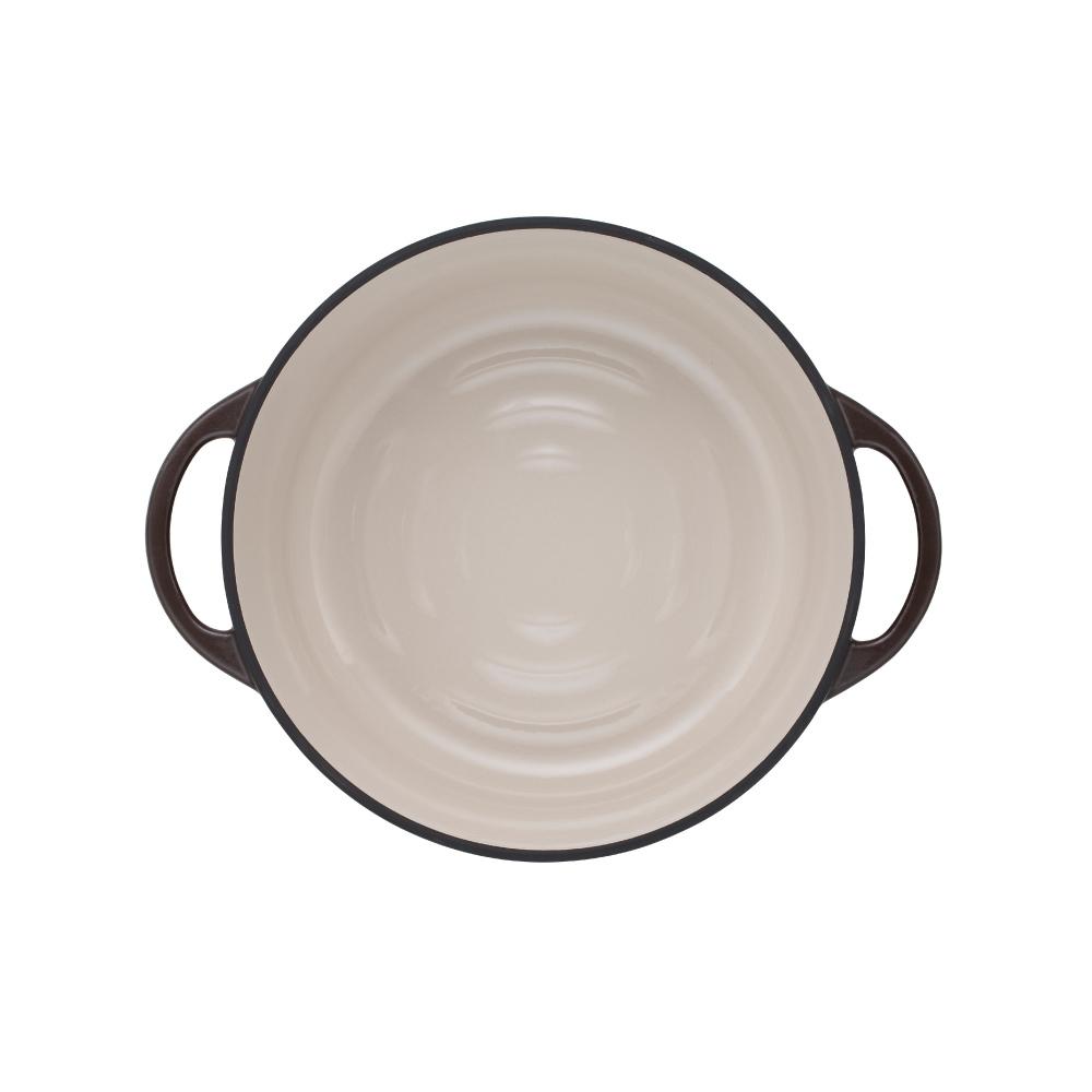 日本Vermicular|琺瑯鑄鐵鍋26cm(珍珠棕)VPOT26-BN