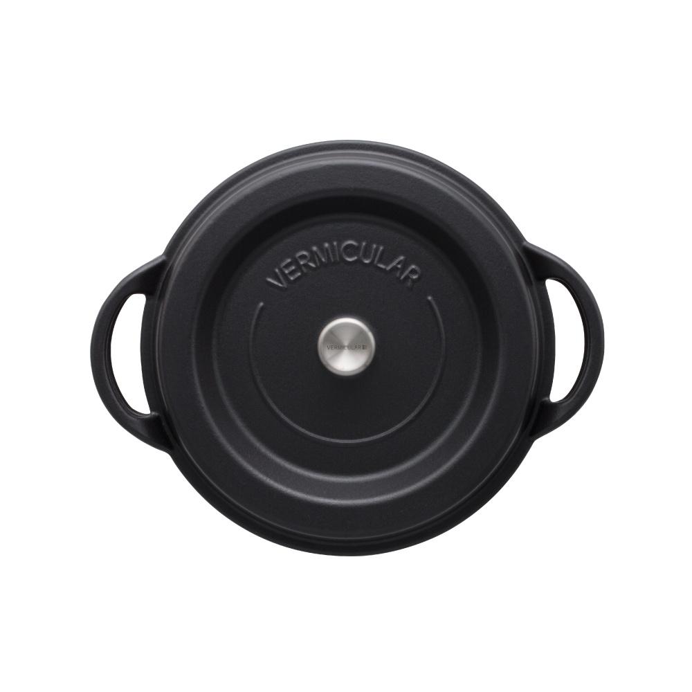 日本Vermicular|琺瑯鑄鐵鍋26cm(碳黑)VPOT26-MK