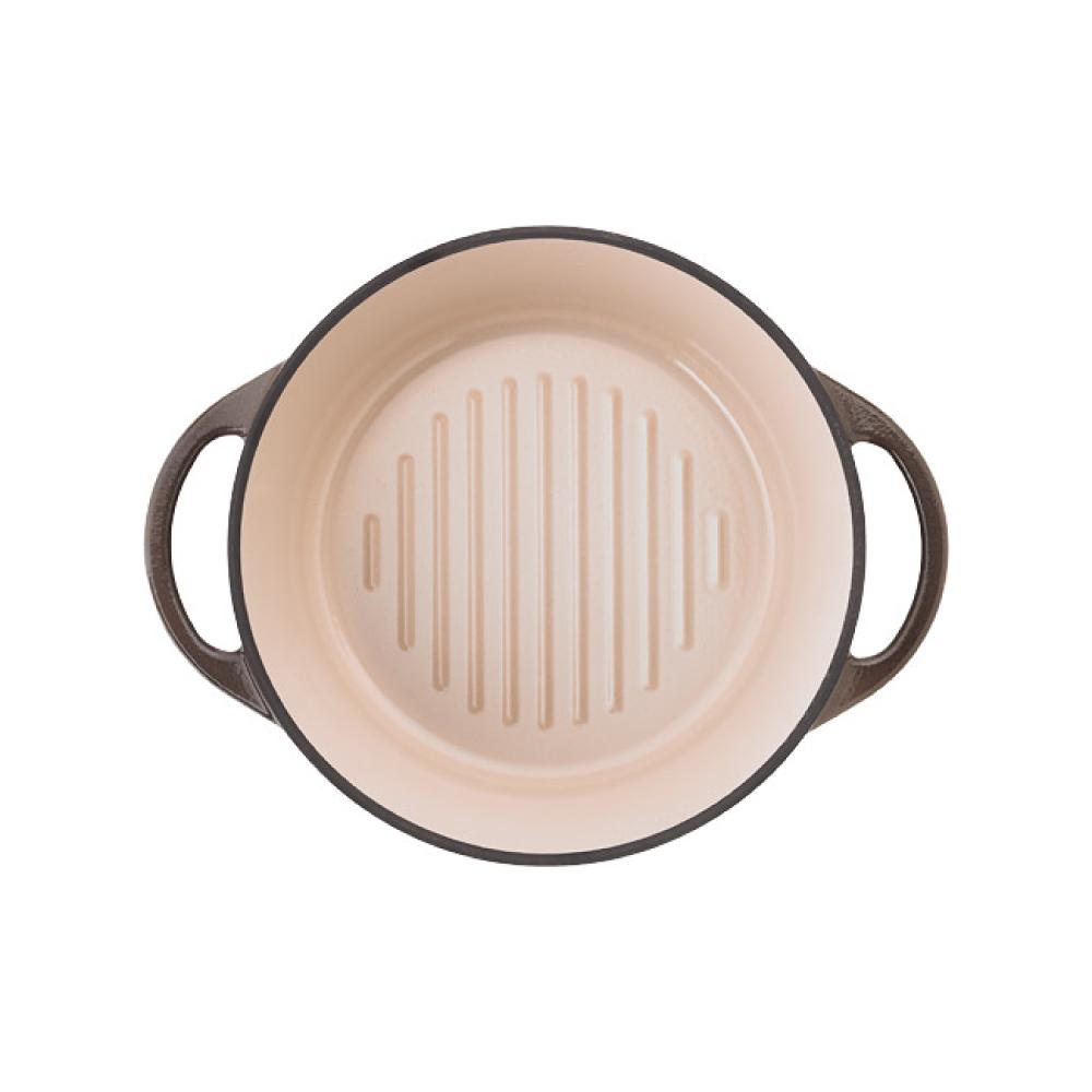 日本Vermicular|琺瑯鑄鐵鍋18cm(珍珠棕)VPOT18-BN