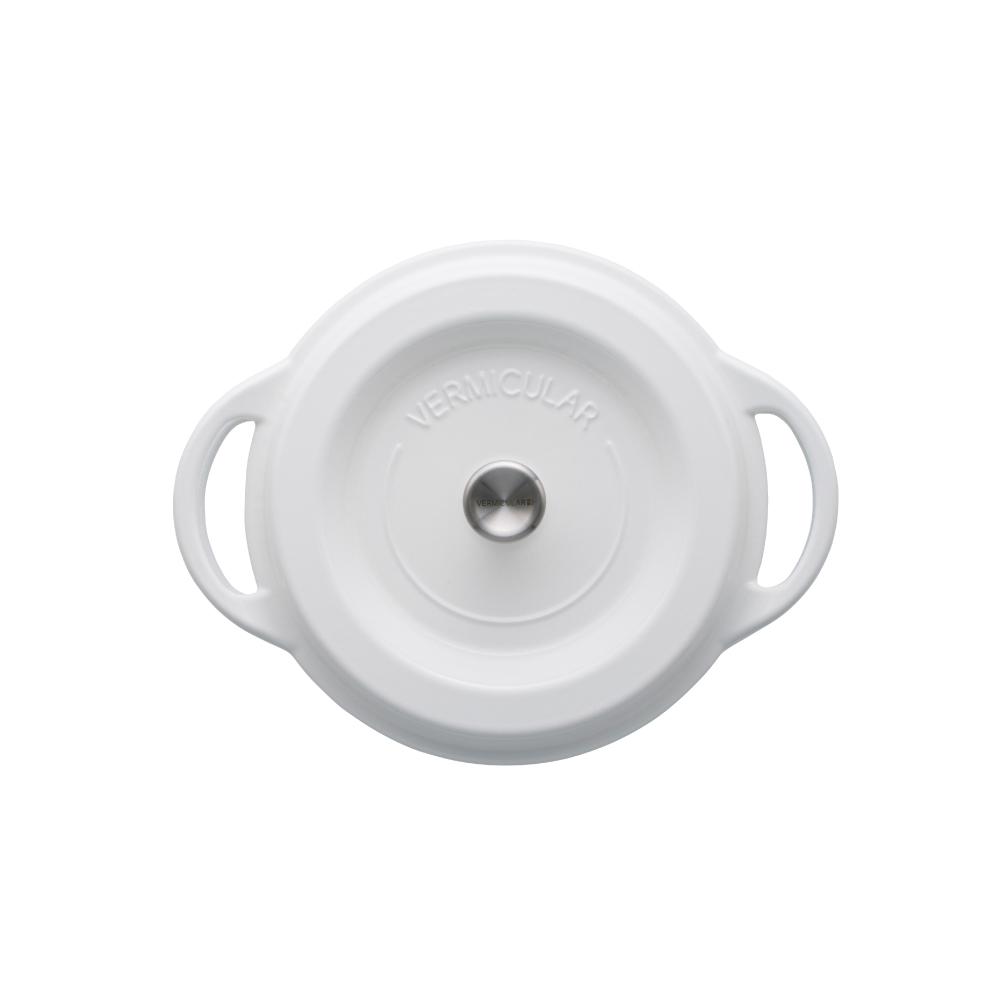 日本Vermicular|琺瑯鑄鐵鍋22cm(雪白)VPOT22-WH