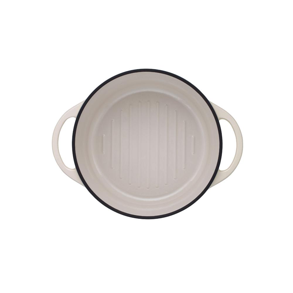 日本Vermicular 琺瑯鑄鐵鍋22cm(米黃)VPOT22-NB