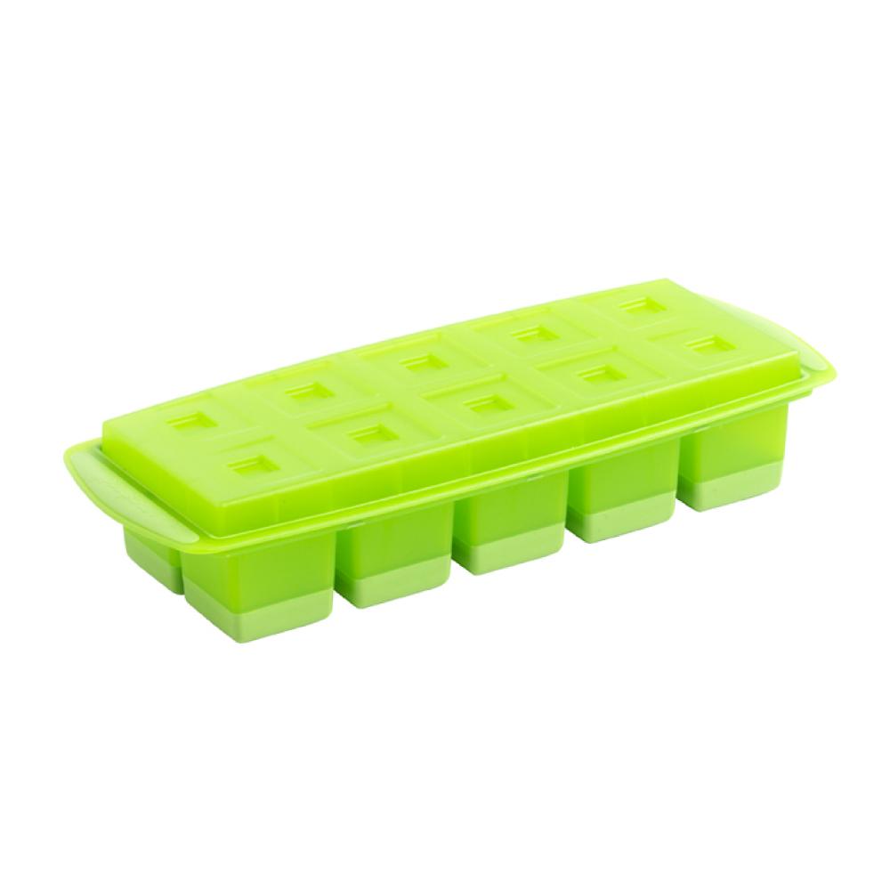 法國mastrad | 10格方形按壓製冰盒(綠)