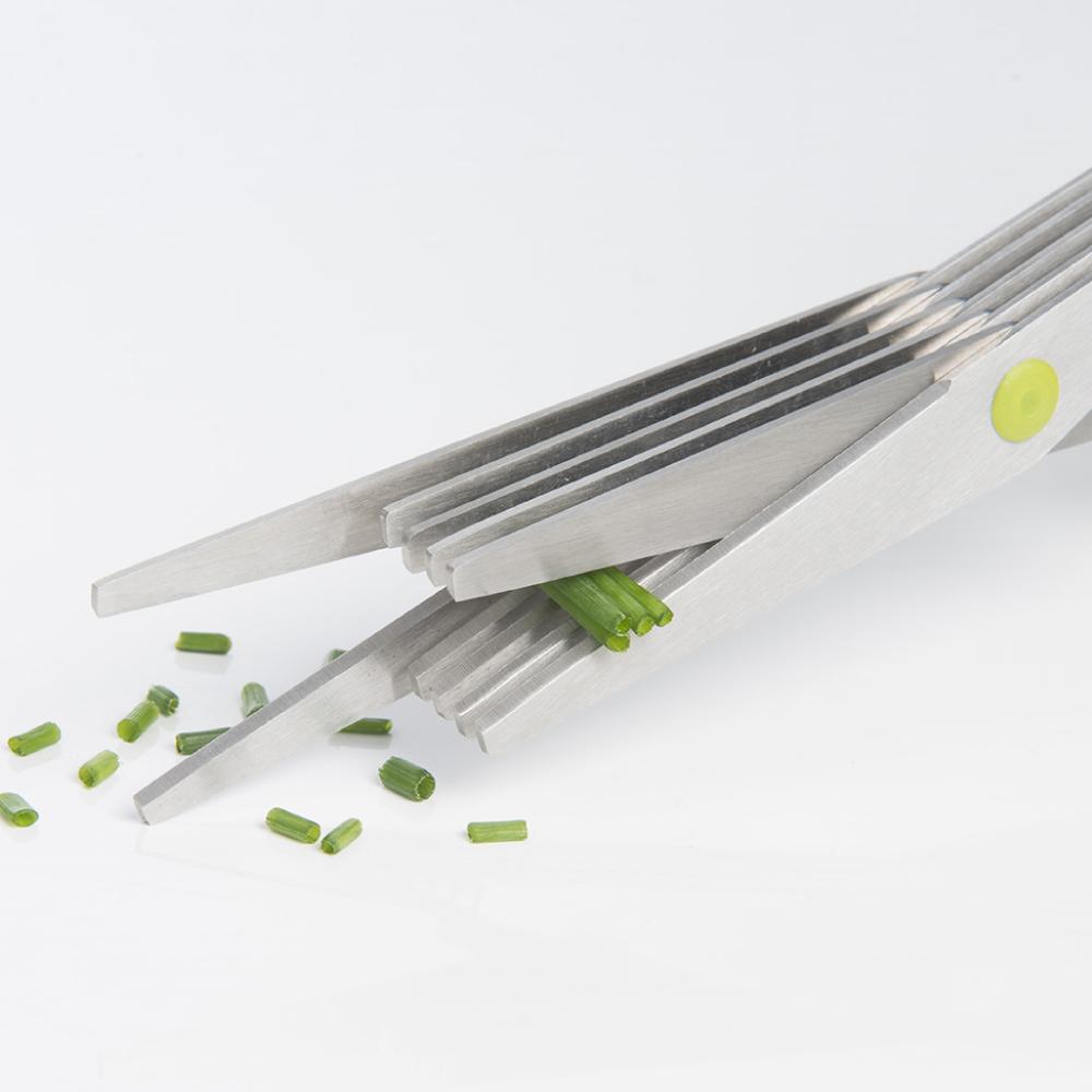 法國mastrad  |  五層香料長刀片剪刀(綠)
