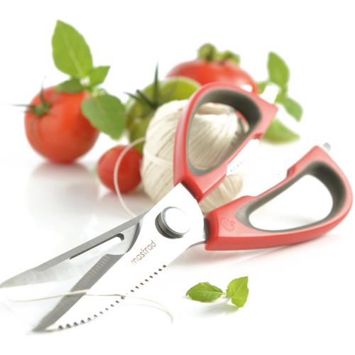 法國mastrad  |  多功能廚房剪刀(紅)