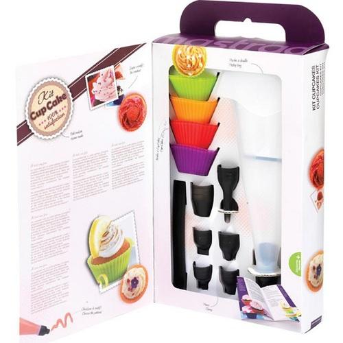 法國mastrad  |  八入矽膠杯子蛋糕模具禮盒組含擠花袋