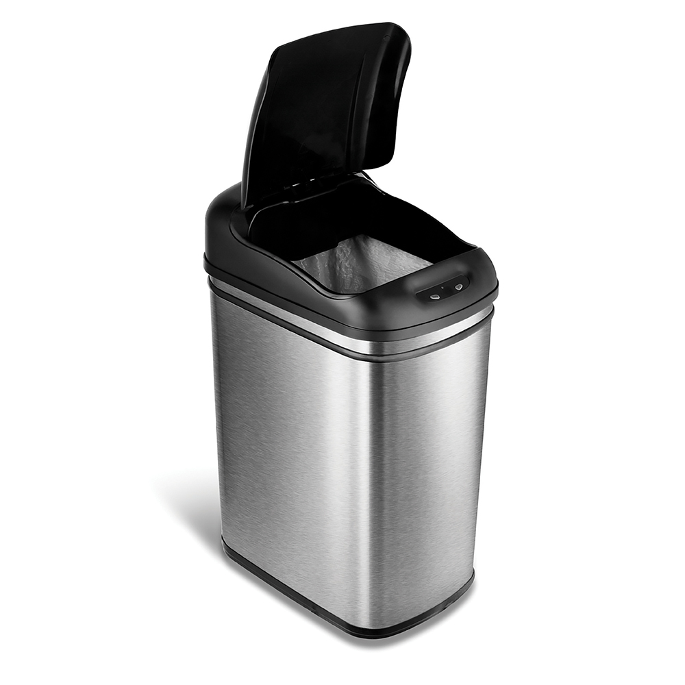 美國NINESTARS 時尚不銹鋼感應垃圾桶30L  (廚衛系列)