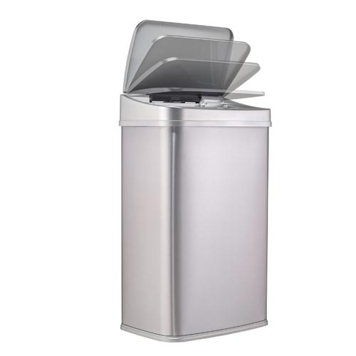 美國NINESTARS 日 時尚不銹鋼感應垃圾桶50L  (廚衛系列)金屬銀