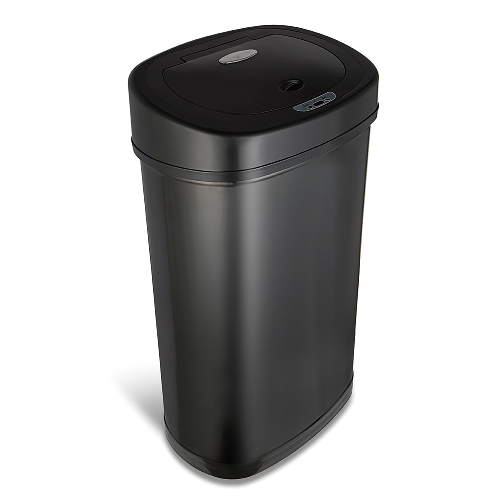 美國NINESTARS|時尚不銹鋼感應垃圾桶50L  (廚衛系列)尊爵黑
