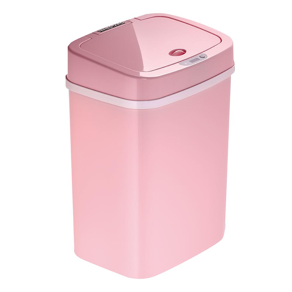美國NINESTARS 時尚感應垃圾桶12L 櫻花粉(廚衛系列)
