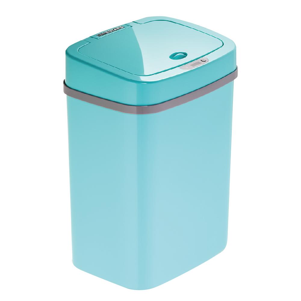 美國NINESTARS|時尚感應垃圾桶12L 蒂芬妮藍(廚衛系列)