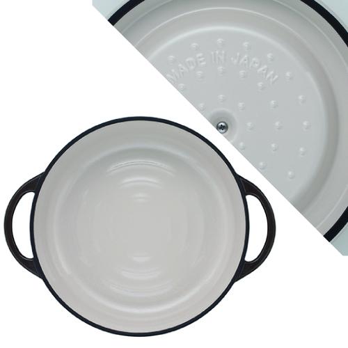 (複製)日本Vermicular|琺瑯鑄鐵鍋26cm淺鍋(珍珠粉)VPOT26S-PK