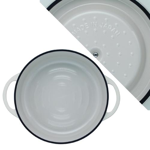 (複製)日本Vermicular|琺瑯鑄鐵鍋26cm淺鍋(珍珠棕)VPOT26S-BN