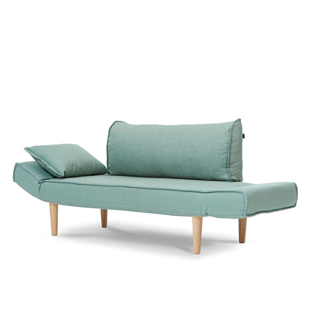 AJ2|雨果|湖水綠|雙人座沙發床