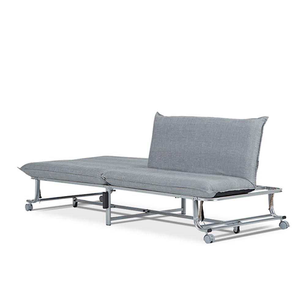 AJ2|摺|石墨灰|多功能折疊沙發床