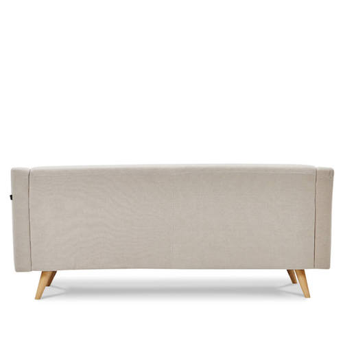AJ2|依蕾那|花瓣米白|三人座沙發