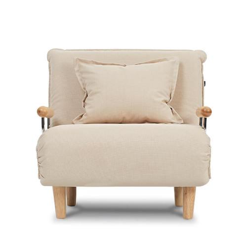 AJ2|奧圖|花瓣米白|單人座沙發床