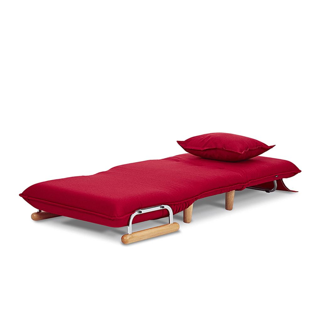AJ2|奧圖|棠莓紅|單人座沙發床