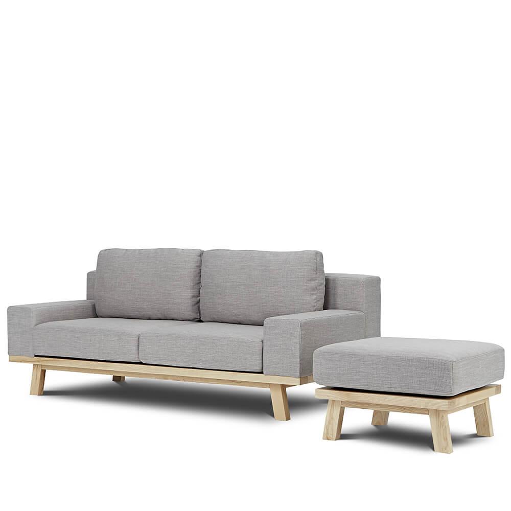 AJ2|卑爾根|石墨灰|L型沙發