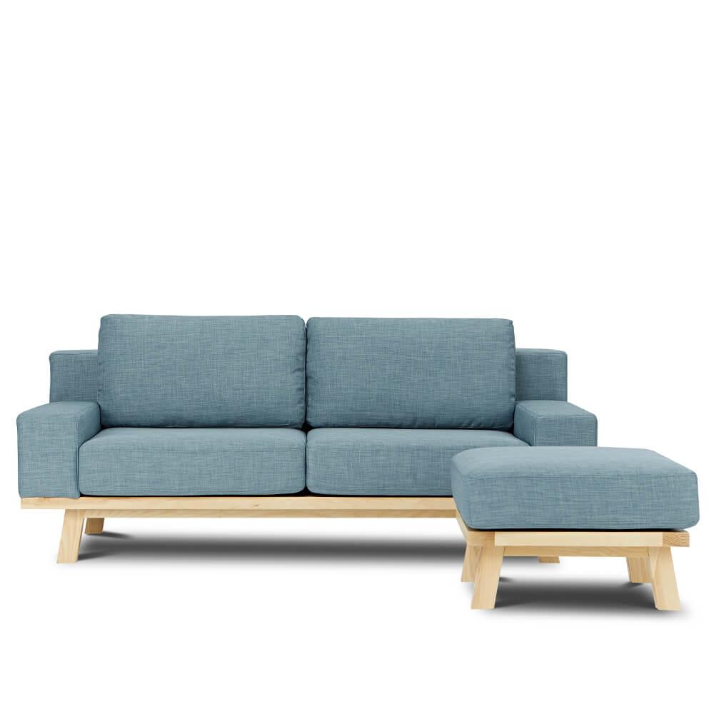 AJ2|卑爾根|碧空蔚藍|L型沙發