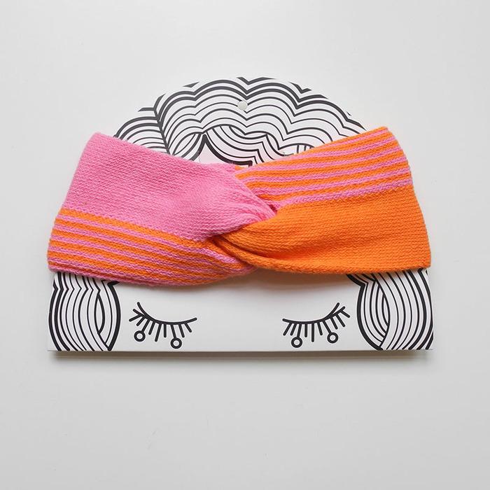 studio chiia好耘設計|法式手工髮帶|粉+橘