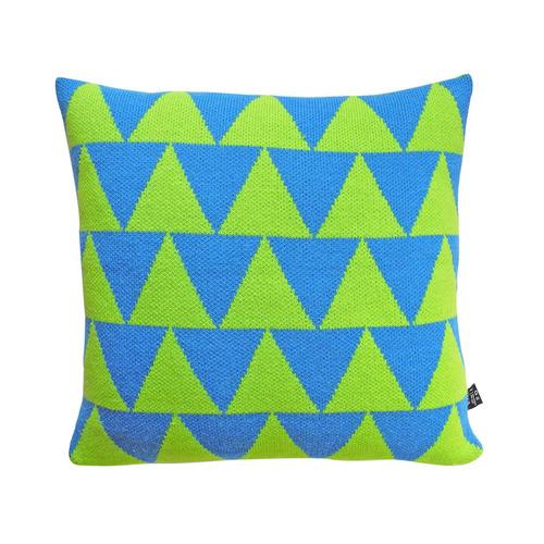 studio chiia好耘設計|針織抱枕套-綠三角